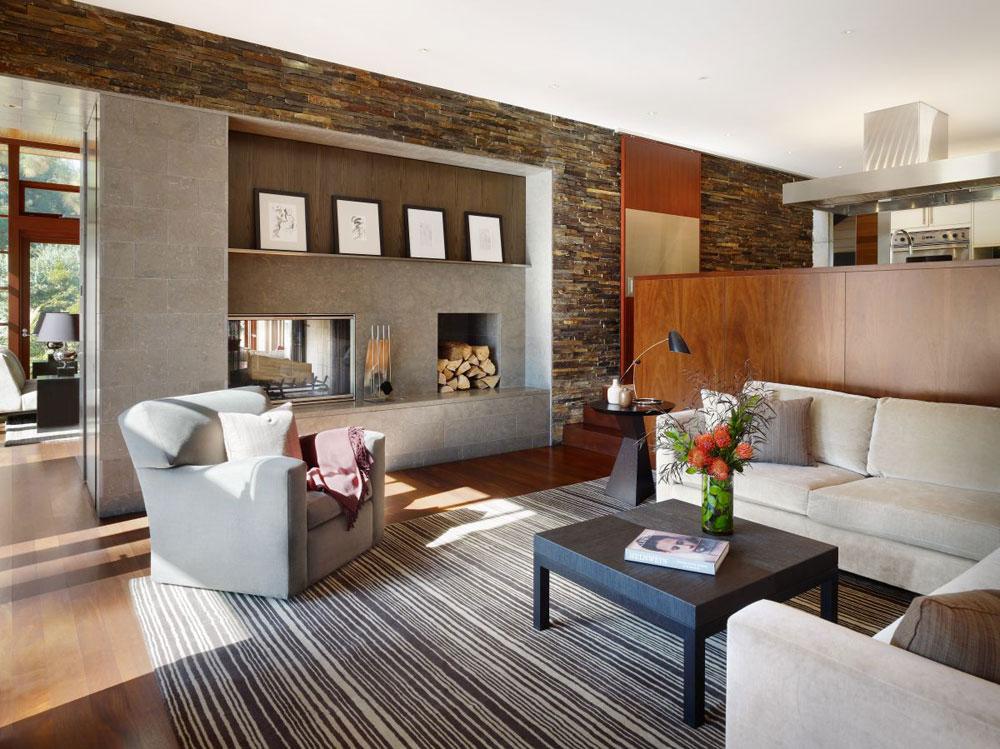 Lyxigt hem omgivet av träd som kompletterar dess eleganta möbler.  11 Lyxigt hem omgivet av träd som kompletterar dess eleganta möbler