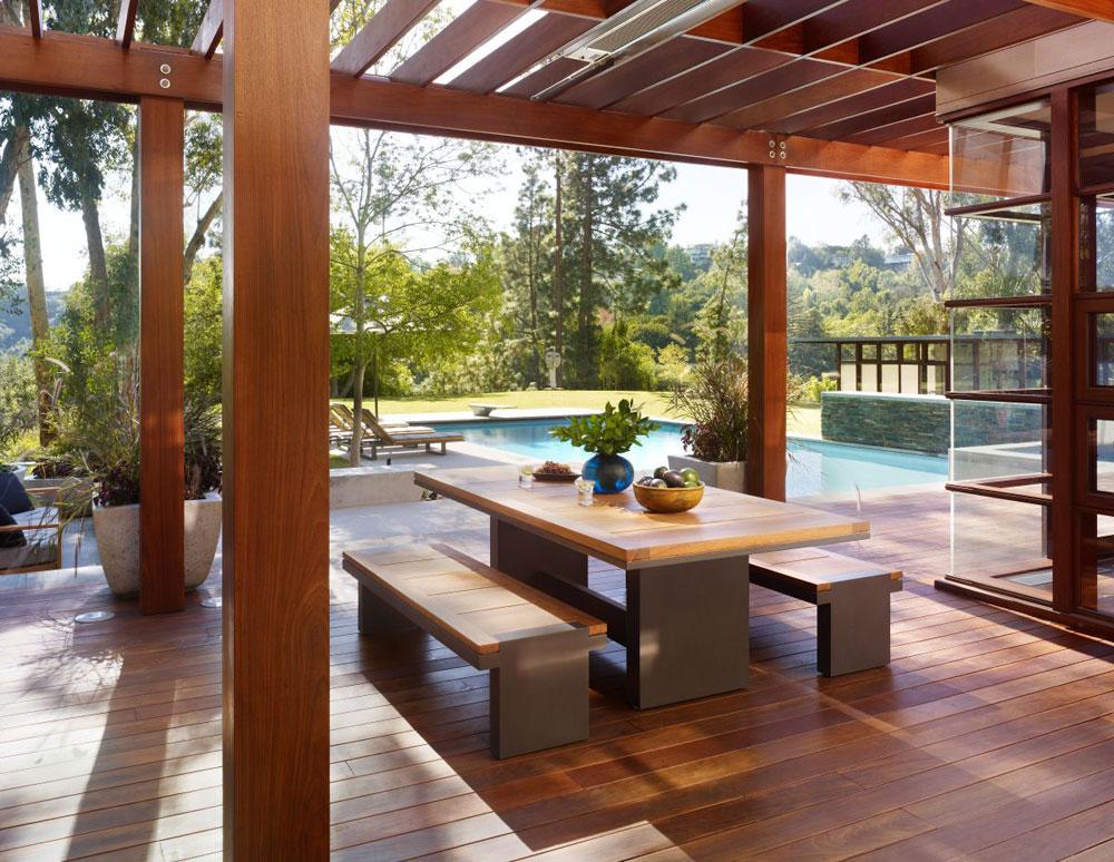 Lyxigt hem omgivet av träd som kompletterar dess eleganta möbler 5 Lyxigt hem omgivet av träd som kompletterar dess eleganta möbler