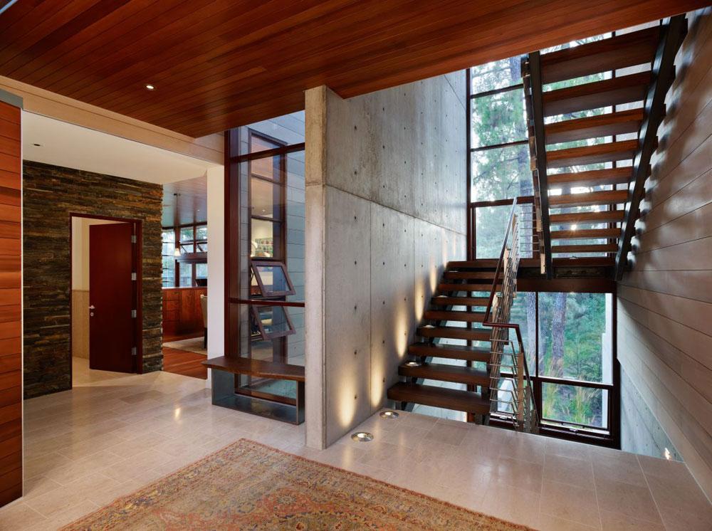 Lyxigt hem omgivet av träd som kompletterar dess eleganta möbler.  13 Lyxigt hem omgivet av träd som kompletterar dess eleganta möbler