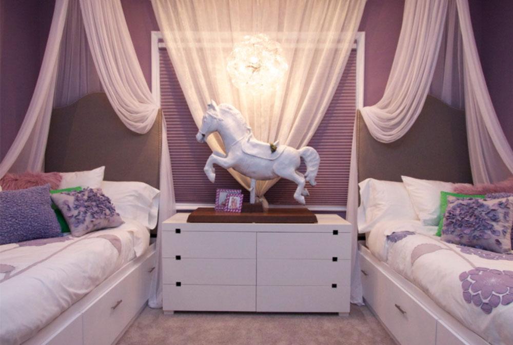 Bild 11-5 Princess sovrumsidéer för små flickor