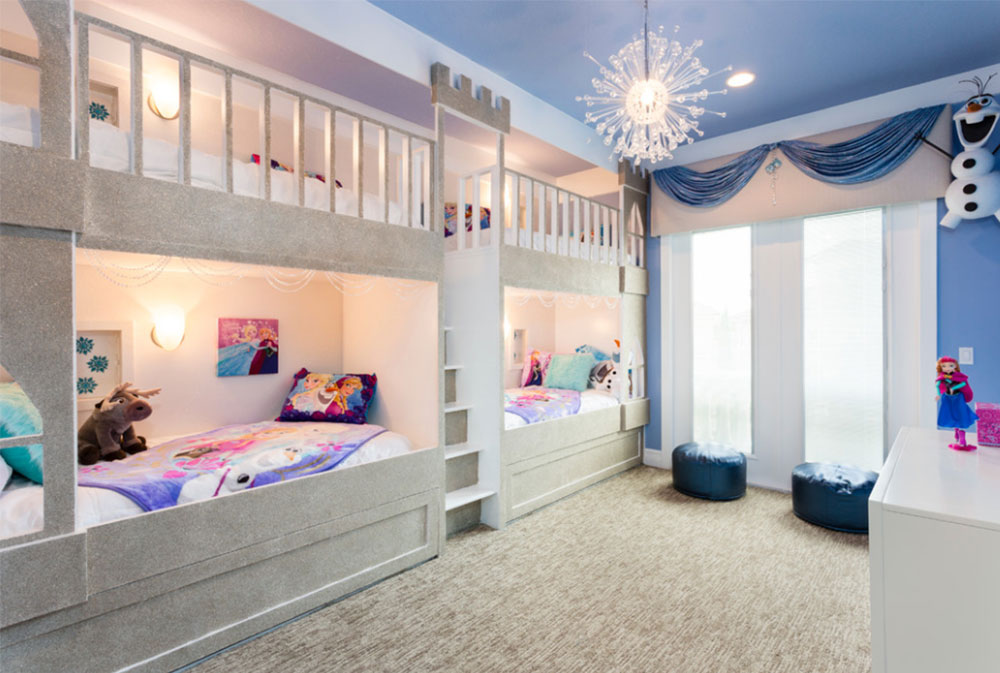 Bild 9-5 prinsessa sovrumsidéer för små flickor