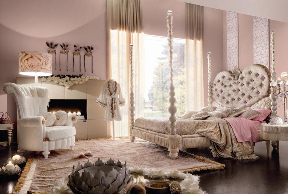 Bild 2-5 prinsessa sovrumsidéer för små flickor