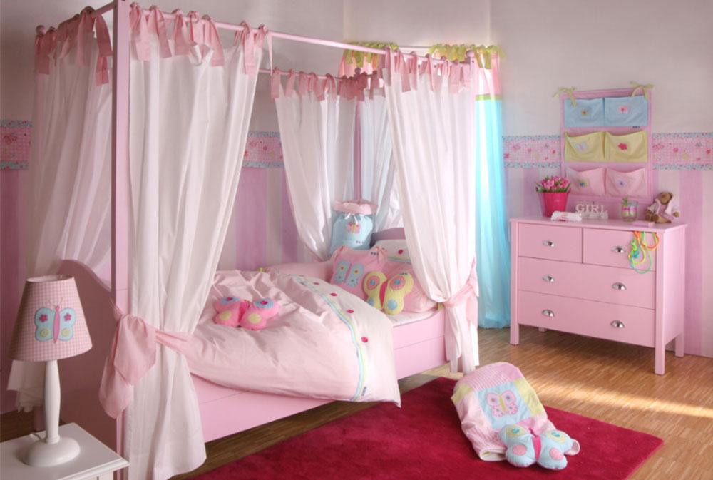 Bild 14-5 prinsessa sovrum idéer för små flickor