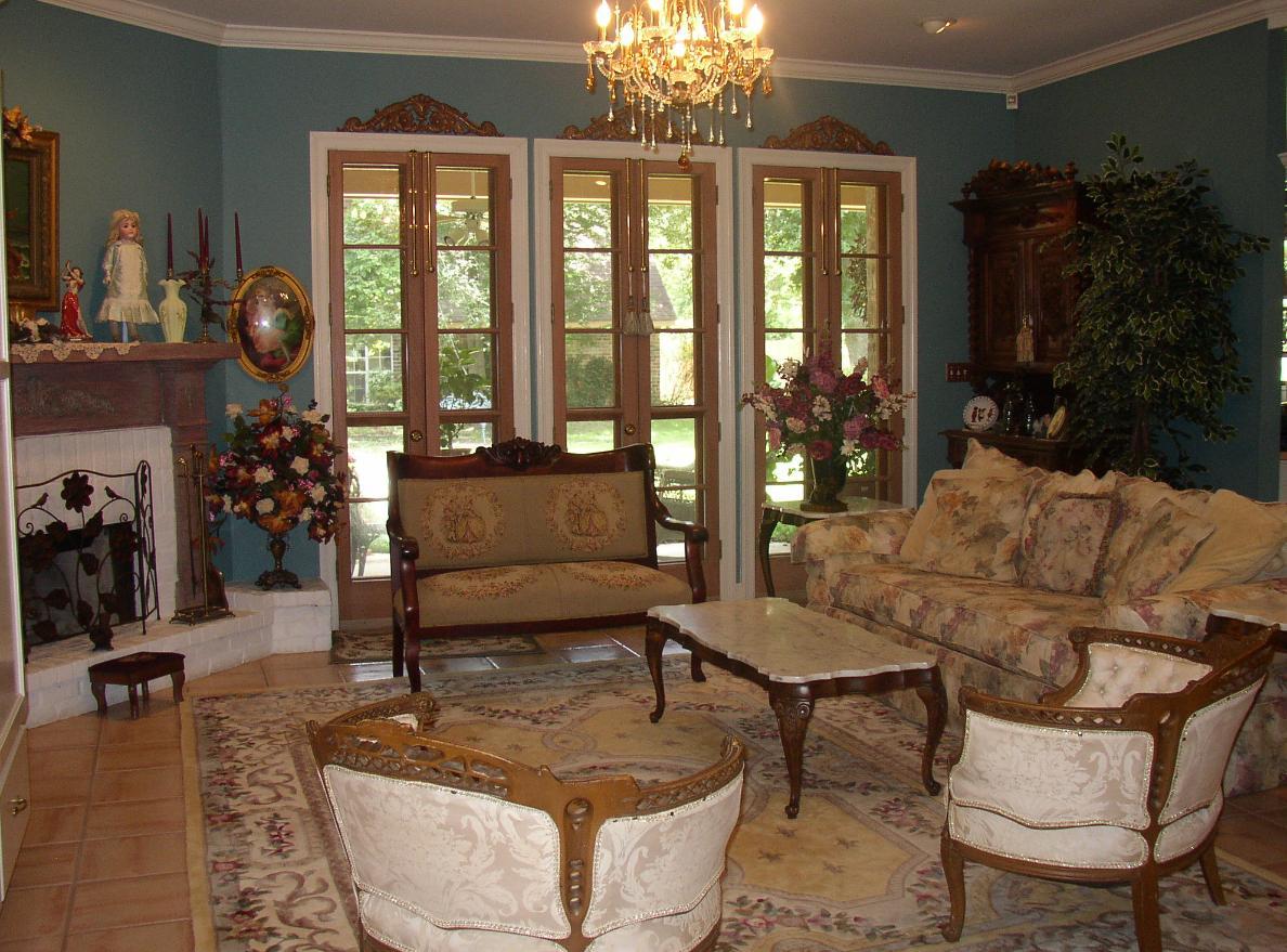Country-Living-Room-5 Skönheten i heminredning i engelsk stil