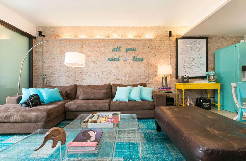 Blå Hur man designar ditt vardagsrum - En användbar guide