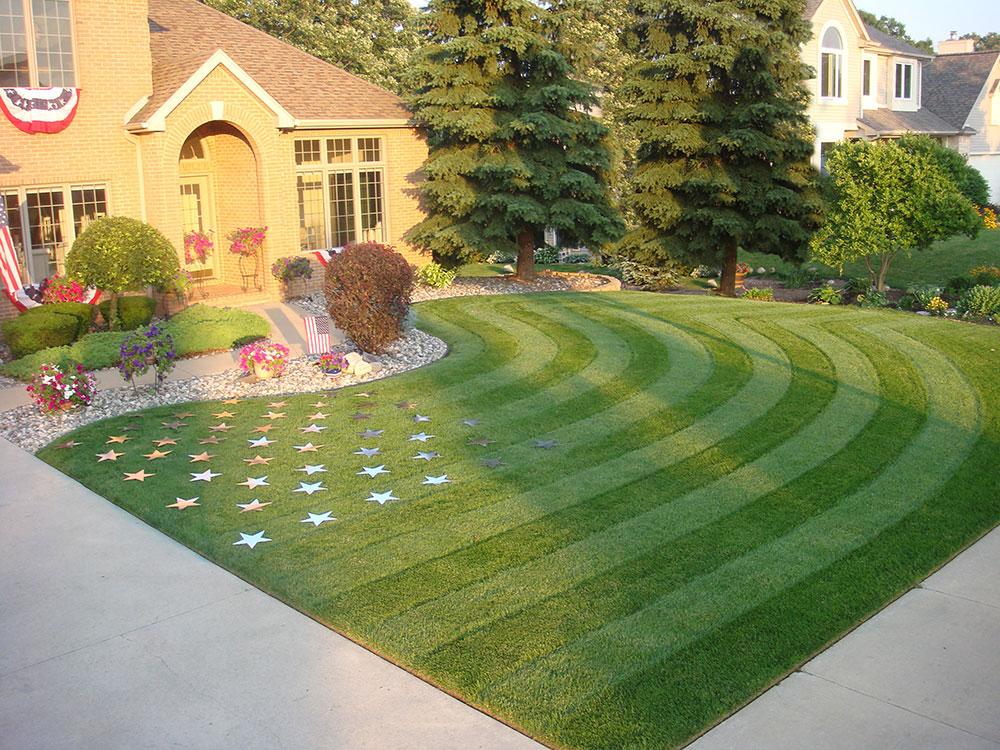 1.july4th.best_.lawn_.stripes Hur man utformar din gräsmatta som en golfbana