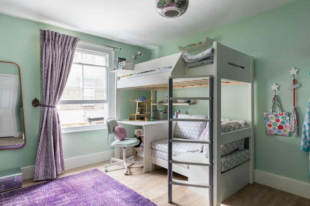 Färgglada-bohemiska-familj-hus-i-södra-London-av-Anouska-Tamony-Designs Lavendel färg och färger som passar med lavendel
