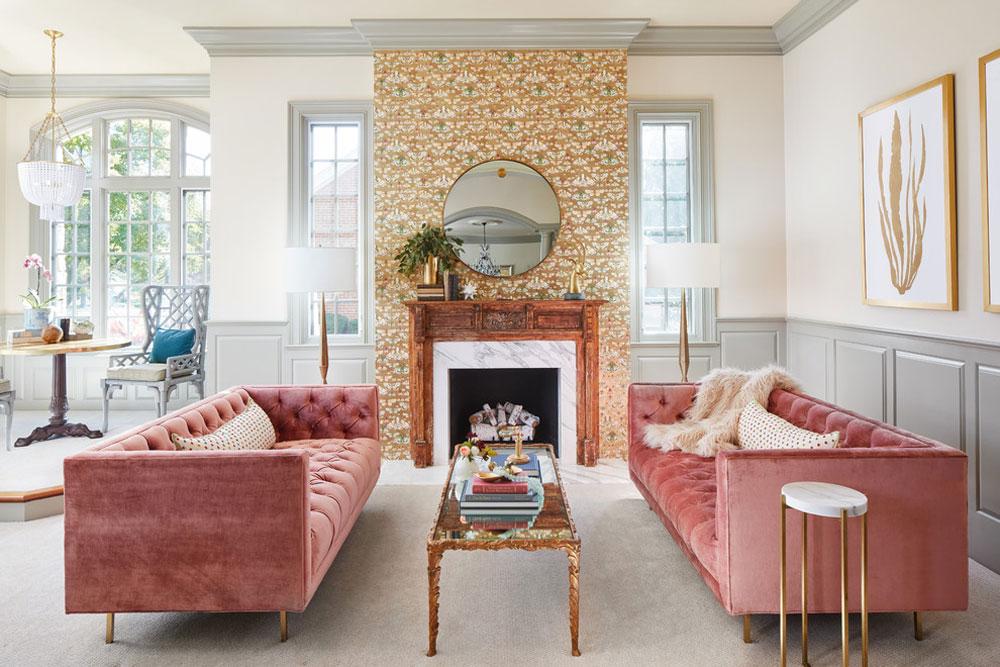 Rustik-modern-familjerum-av-pepparmint-design Lavendelfärgen och färgerna som passar till lavendel