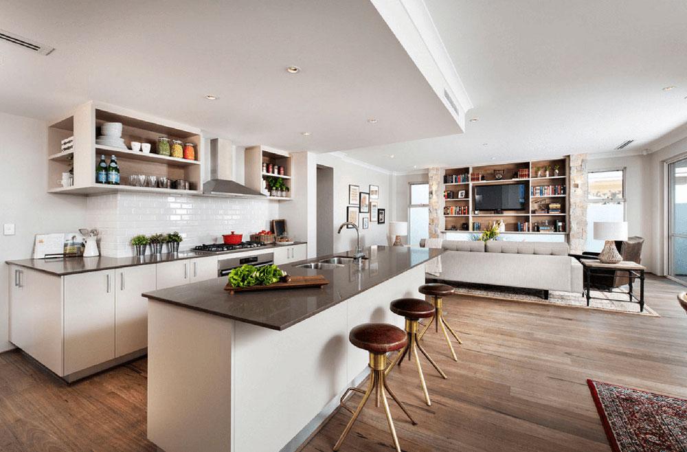 ljus, öppen planlösning Väg upp de olika golvbeläggningarna och bestäm vilken som är bäst för dig