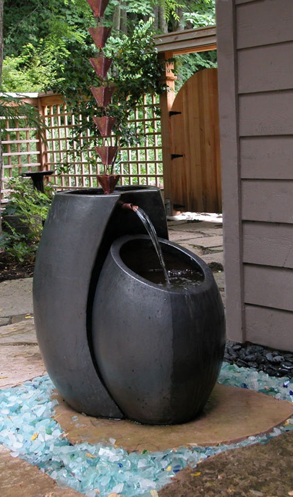 w13 Bakgårdsdammar och idéer för vattenträdgård - 31 exempel