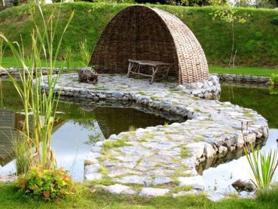 w21 Bakgårdsdammar och idéer för vattenträdgård - 31 exempel