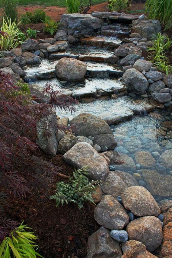 w20 Bakgårdsdammar och idéer för vattenträdgård - 31 exempel