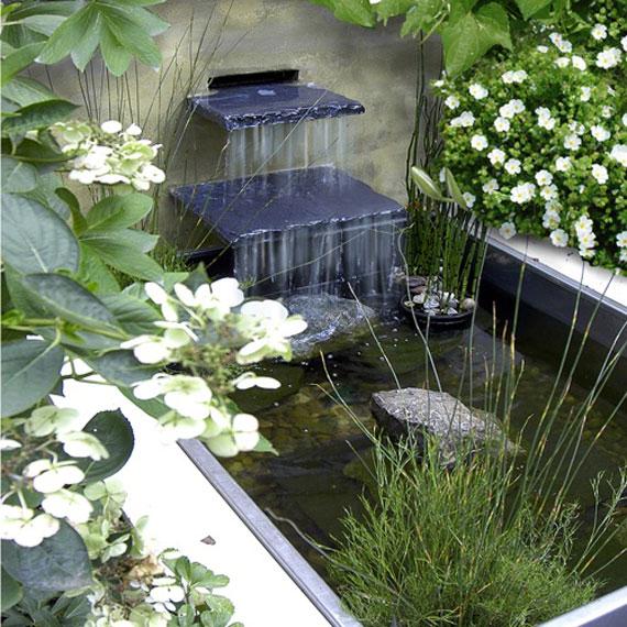 w15 Bakgårdsdammar och idéer för vattenträdgård - 31 exempel
