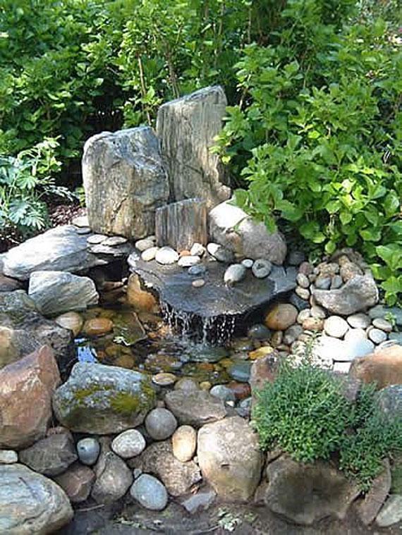 w7 Bakgårdsdammar och idéer för vattenträdgård - 31 exempel