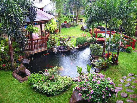 w6 Bakgårdsdammar och idéer för vattenträdgård - 31 exempel
