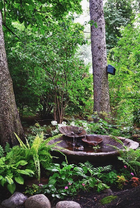 w31 Bakgårdsdammar och idéer för vattenträdgård - 31 exempel