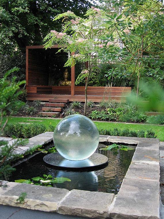 w12 Bakgårdsdammar och idéer för vattenträdgård - 31 exempel