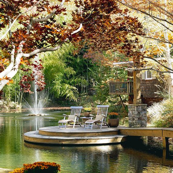 w23 Bakgårdsdammar och idéer för vattenträdgård - 31 exempel