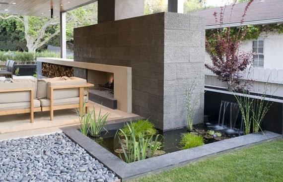 w10 bakgårdsdammar och idéer för vattenträdgård - 31 exempel