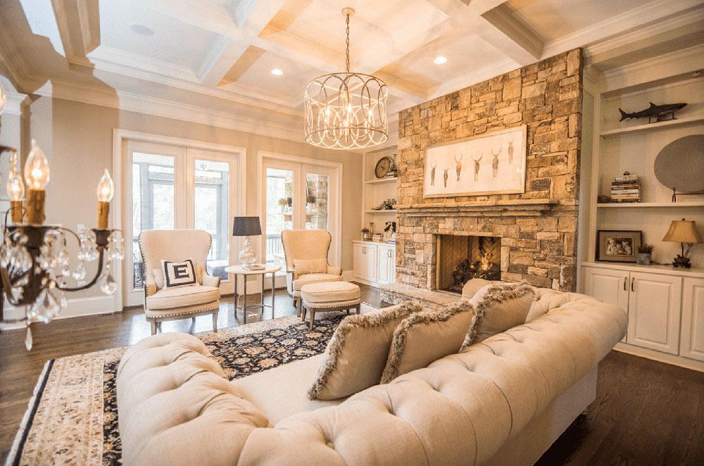 Vardagsrum med varm belysning 58c446805f9b58af5c6ac3c2 Viktiga överväganden innan du väljer en inredningsdesign för ditt hem