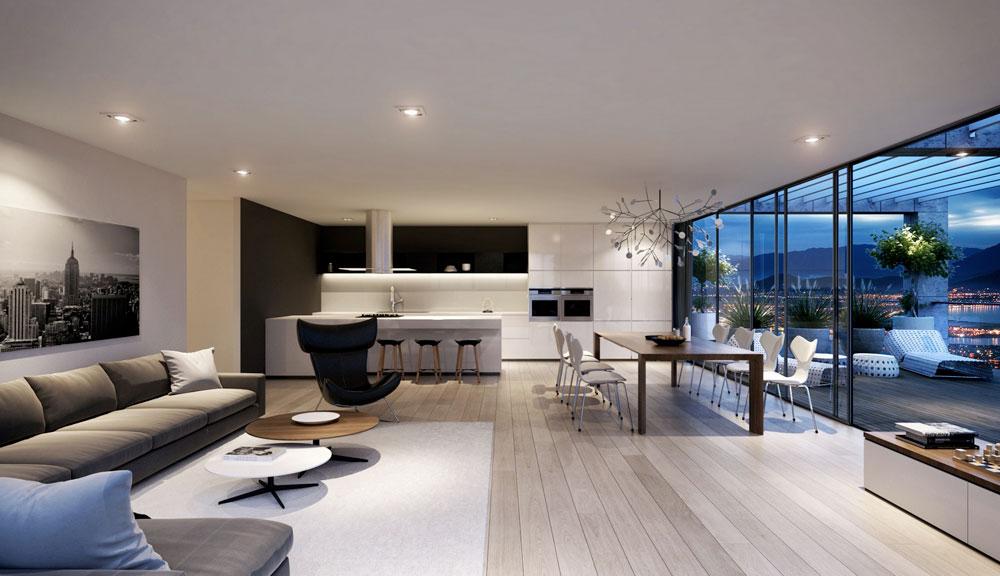 Undvik folkmassorna med en minimalistisk stil 5 Undvik trånga interiörer med en minimalistisk stil