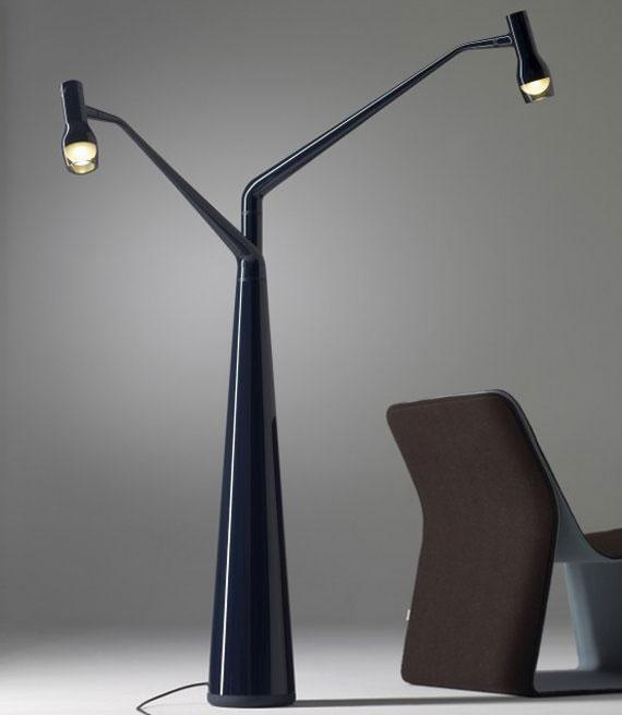 q2 Moderna och vintage golvlampedesigner för att dekorera och belysa dina rum