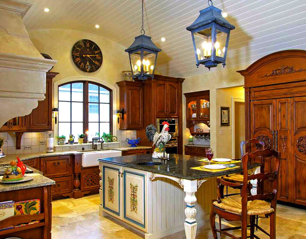 My-Favorite-French-Country-Kitchen-by-Mike-Smith-Artistic-Kitchens French country kök: dekor, skåp, idéer och gardiner