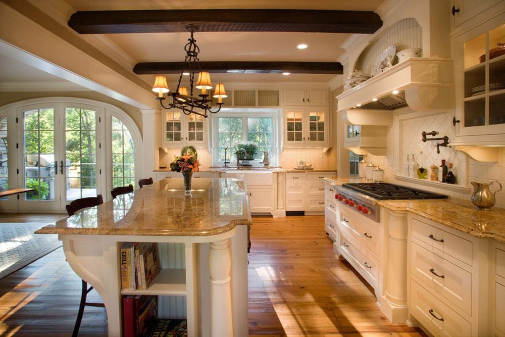 Kitchen-by-Murphy-Co.-Design Franska lantliga kök: dekor, skåp, idéer och gardiner