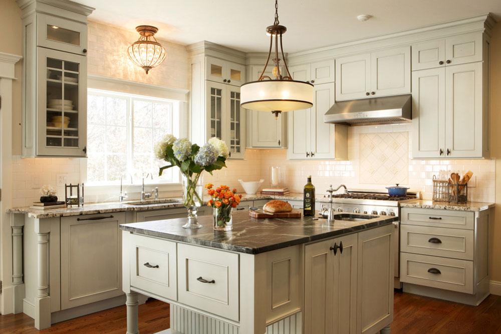 Grå-kök-renovering-St.-Louis-MO-von-Karr-Bick-kök-och-bad-2 franska lantliga kök: dekor, skåp, idéer och gardiner