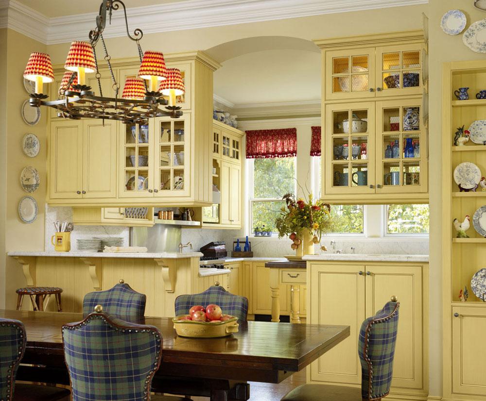 Frukostrum-kök-av-Adeeni-Design-Gruppe Franska lantliga kök: dekor, skåp, idéer och gardiner