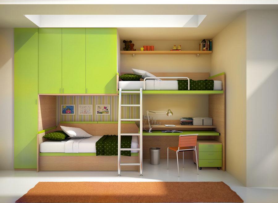 2 moderna våningssängdesigner och idéer för ditt barns rum