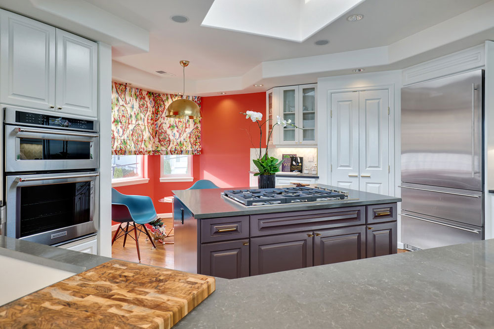Modern-Bachelor-Pad-by-Ashleigh-Underwood-Design Korallfärgen: Hur man använder den för att dekorera vackra interiörer