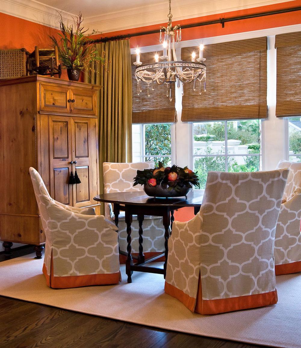 Urban-Townhome-Breakfast-Room-by-LORRAINE-G-VALE-Allied-ASID- Korallfärgen: Hur man använder den för att dekorera vackra interiörer