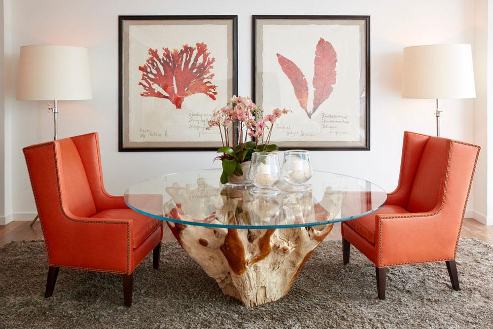 South-Florida-Condo-Chic-by-Jalan-Jalan-Collection Korallfärgen: Hur man använder den för att dekorera vackra interiörer