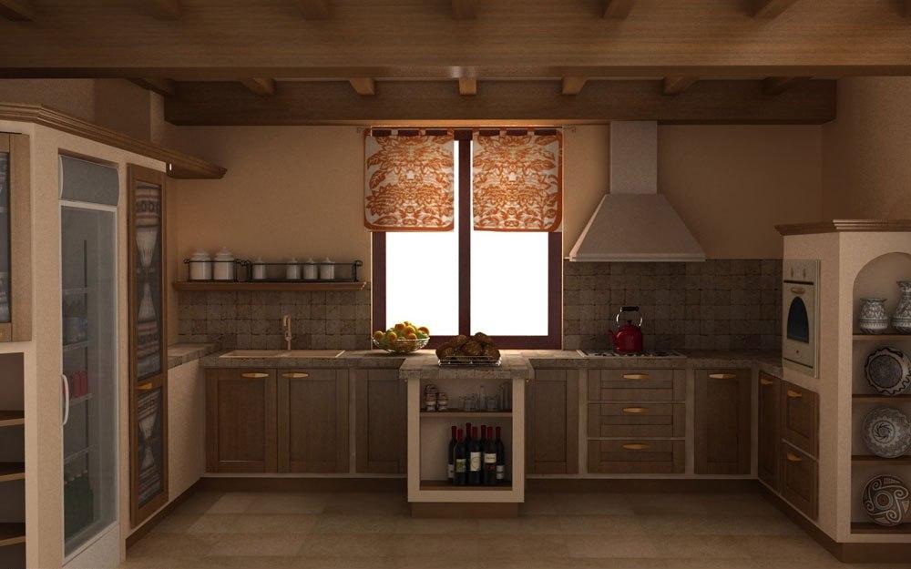 Varm-mysig-och-inbjudande-rustik-kök-interiör-111 Varm, mysig och inbjudande rustik-kök interiör