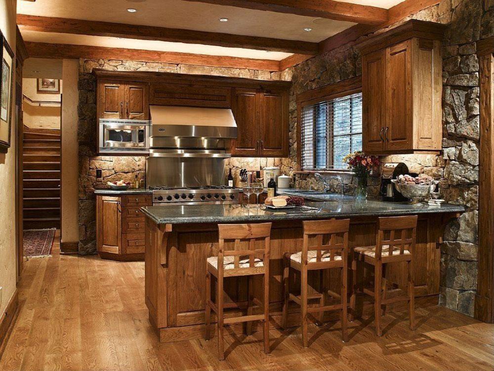 Varm-mysig-inbjudande-rustik-kök-interiör-101 Varm, mysig och inbjudande rustik kök-interiör