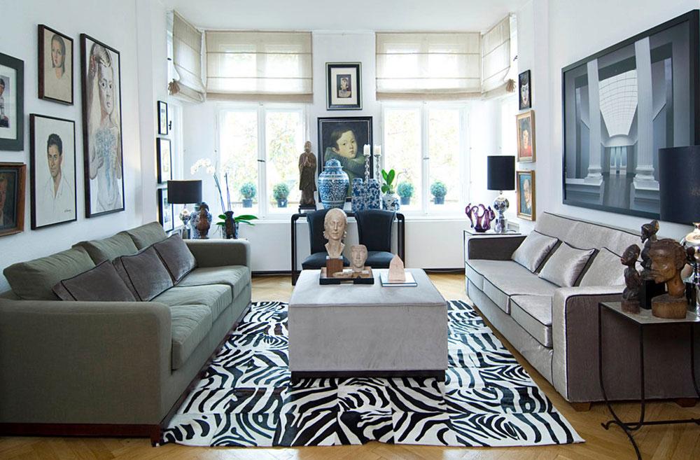 Vardagsrummet betonar att se snyggt och elegant ut 15 Vardagsrummet betonar att se snyggt och elegant ut