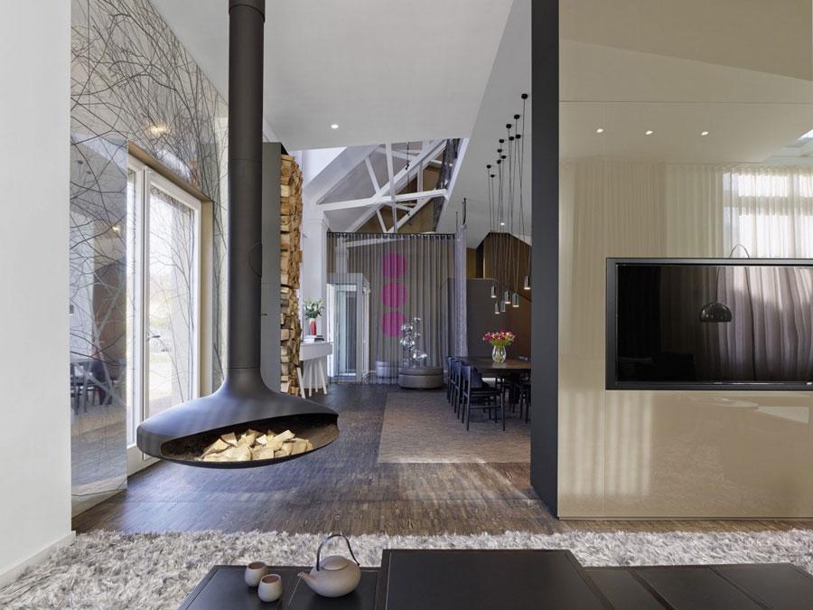 4 Modern och futuristisk inredning för loft
