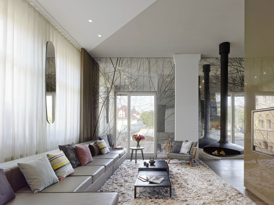 2 Modern och futuristisk inredning för loft