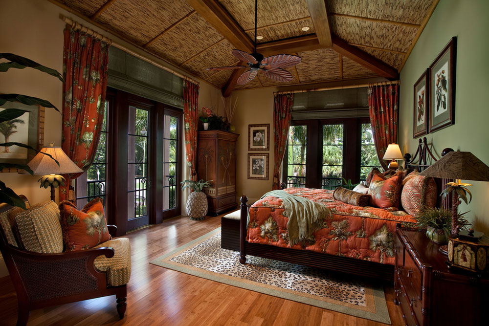 Never-Miss-Summer-With-These-Tropical-Bedroom-Design-Ideen1 Missa aldrig sommaren med dessa Tropical Bedroom Design-Idéer