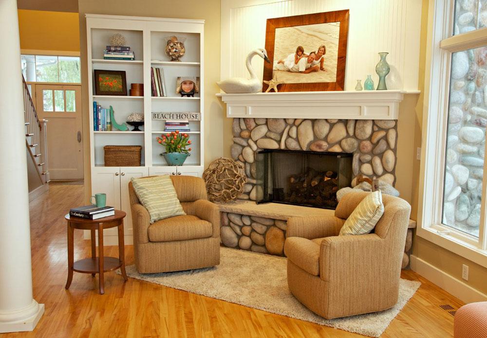 Eldstadsklädsel-dekoration-idéer-för-ett-mysigt-hem5 Eldstadsklädsel-dekorationsidéer för ett mysigt hem