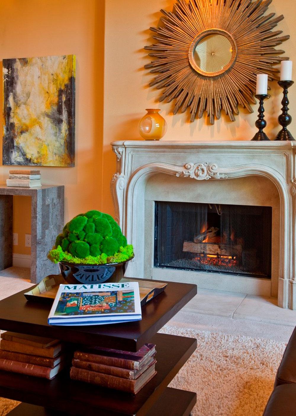 Eldstadsmanteldekorationsidéer för ett mysigt hem 8 Eldstadsmanteldekorationsidéer för ett mysigt hem