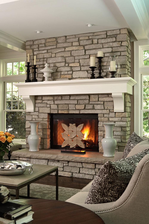Idéer för eldstadsbeklädnad för ett mysigt hem 3 Idéer för eldstadsbeklädnad för ett mysigt hem