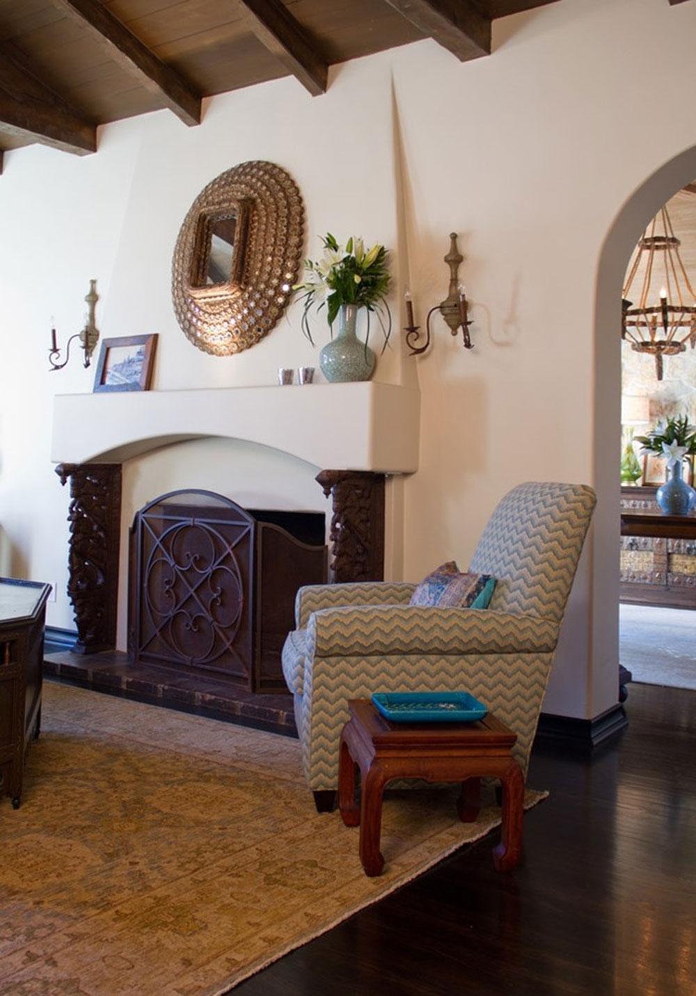 Skorstensbeklädnad-dekoration-idéer-för-ett-mysigt-hem11 eldstadsklädsel-dekorationsidéer för ett mysigt hem