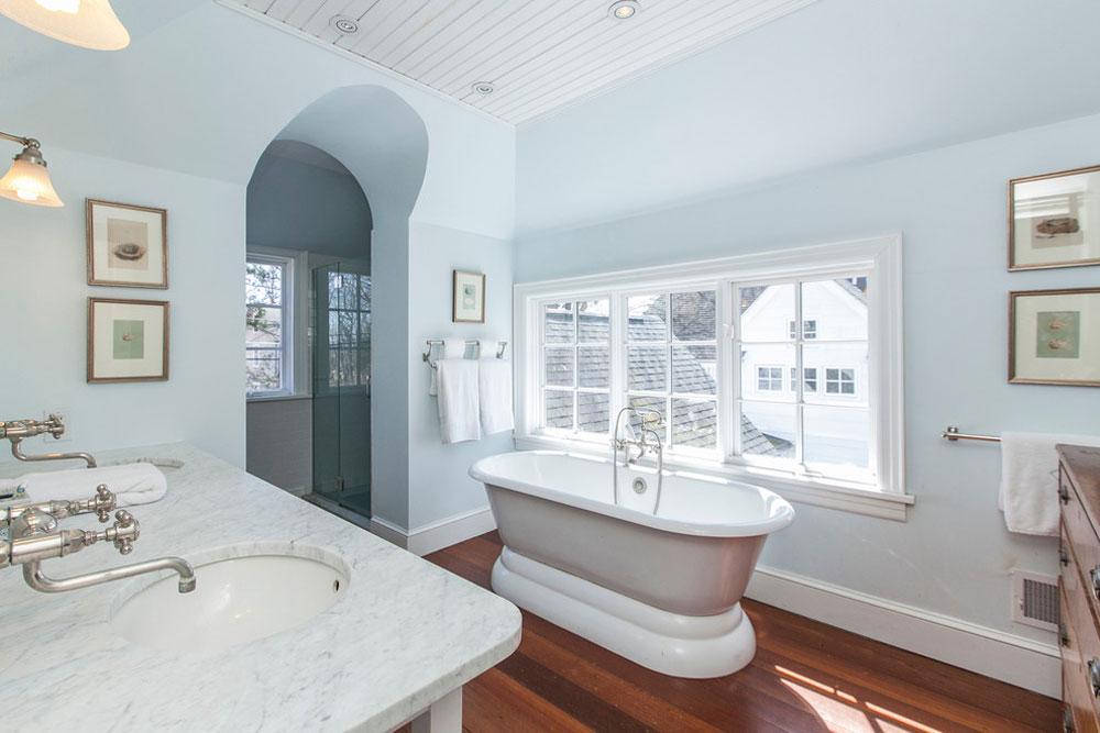 Arkitekter-Hem-av-Morgan-Atelier-Arkitektur-LLC Blå badrumsidéer.  Design, dekor och tillbehör