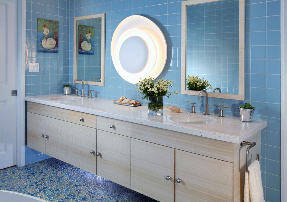 Fredlig Palisade-by-Sarah-Barnard-Design Blue badrumsidéer.  Design, dekor och tillbehör