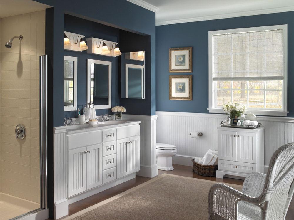 Farmhouse-Bathroom-Cabinet-by-Designhouse-Kitchen-and-Bath-LLC Blå badrumsidéer.  Design, dekor och tillbehör
