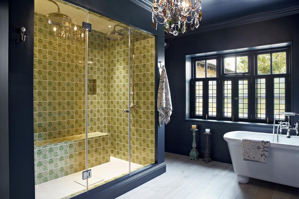 Samtida badrum från Godrich Blue badrumsidéer.  Design, dekor och tillbehör