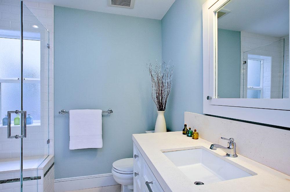 Strandstil-badrum-av-Melissa-Lenox Blå badrumsidéer.  Design, dekor och tillbehör