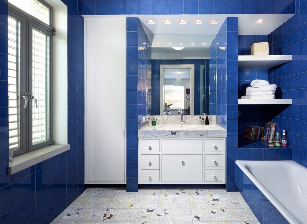 Bad-von-Elad-Gonen Blå badrumsidéer.  Design, dekor och tillbehör